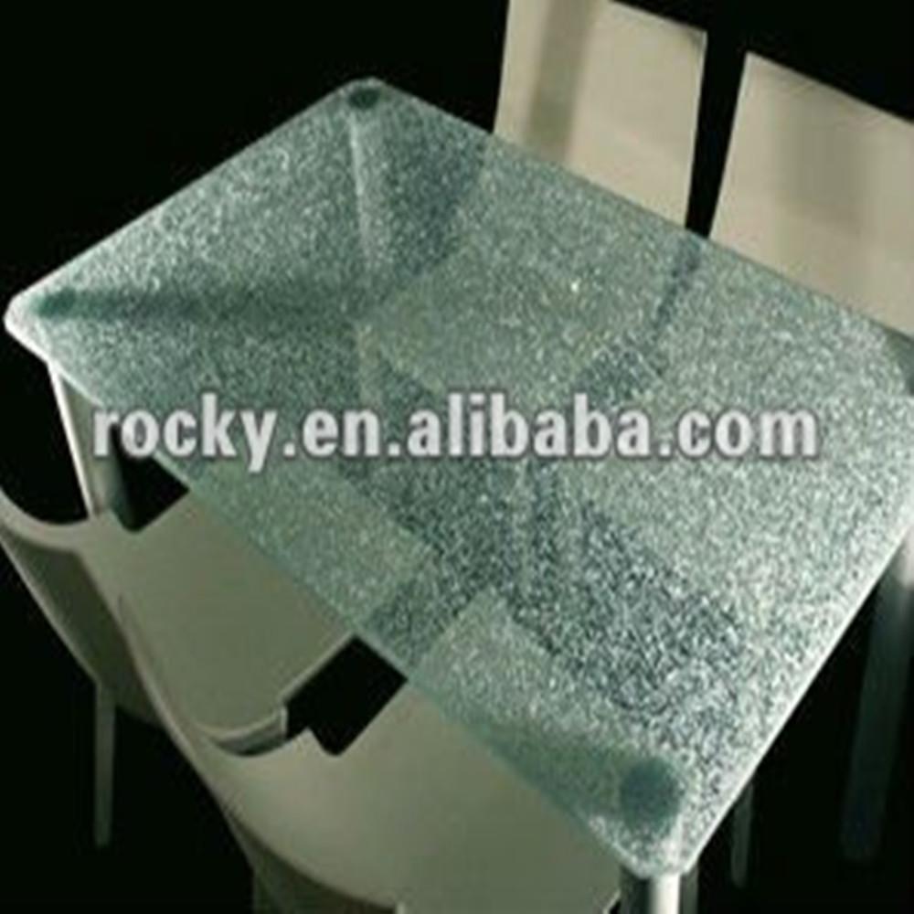 Tafel Van Gebroken Glas.Qingdao Rotsachtige Hoge Kwaliteit Gebroken 3mm 19mm Gehard Glas Gebarsten Glazen Tafel Buy Gebarsten Glazen Tafel Gebarsten Glazen Tafel Gebarsten