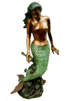 Outdoor Garden Decoration Metal Casft Mermaid Statues Sale