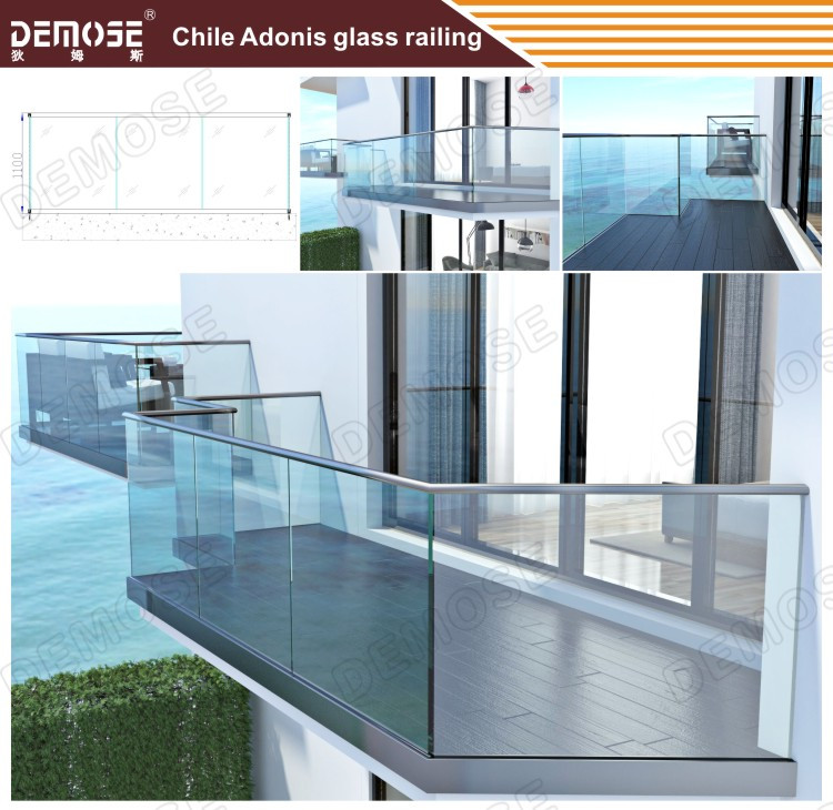 Balcón Barandilla De Vidrio De Diseño Barato Plexiglás Cubierta ...
