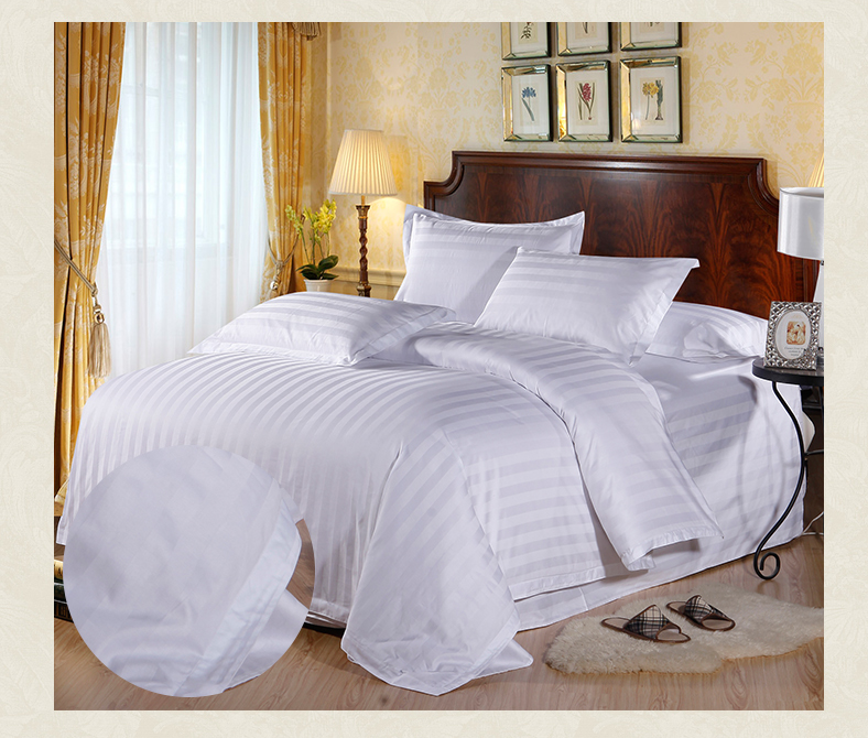 5 star Hotel Comfortable Bedsheet Duvet Cover Bed lines