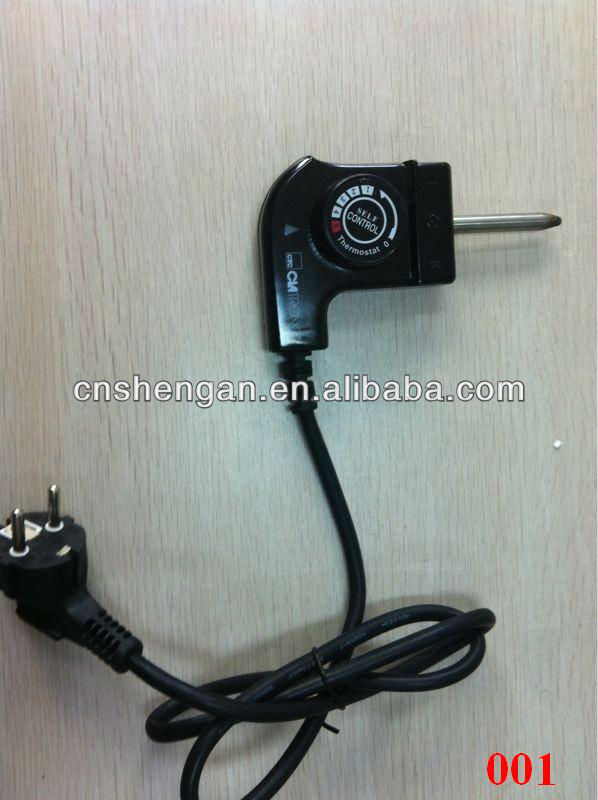 Cooker Thermostat Power Cord With 3 Pin Round Plug - Buy Power Cords ...