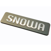 Custom metal embossing highlight diamond cutting nameplates application to electronic equipment brand logos