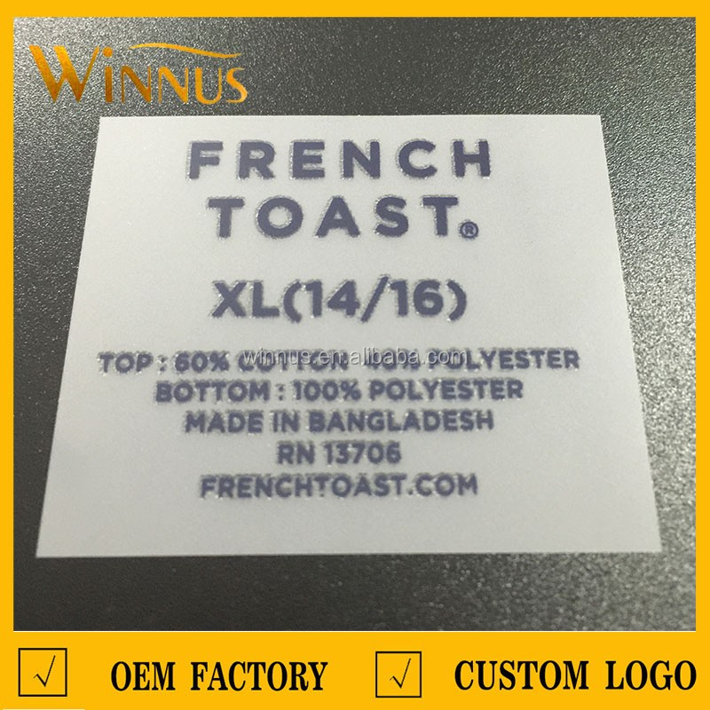 custom printing t-shirt heat press clothing labels, heat transfer clothing labels