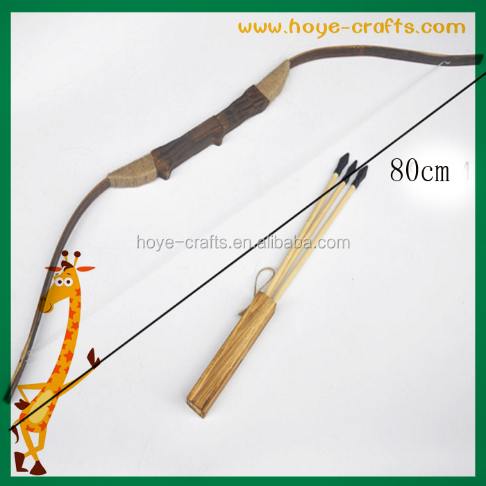 80cm Bamboo wood Bow and Arrow with Quiver Set Kids Youth Toy for Archery Hunting Playing
