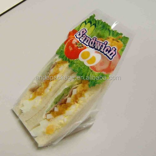 Custom Triangle Sandwich Packaging Bag Sandwich Bag Bopp
