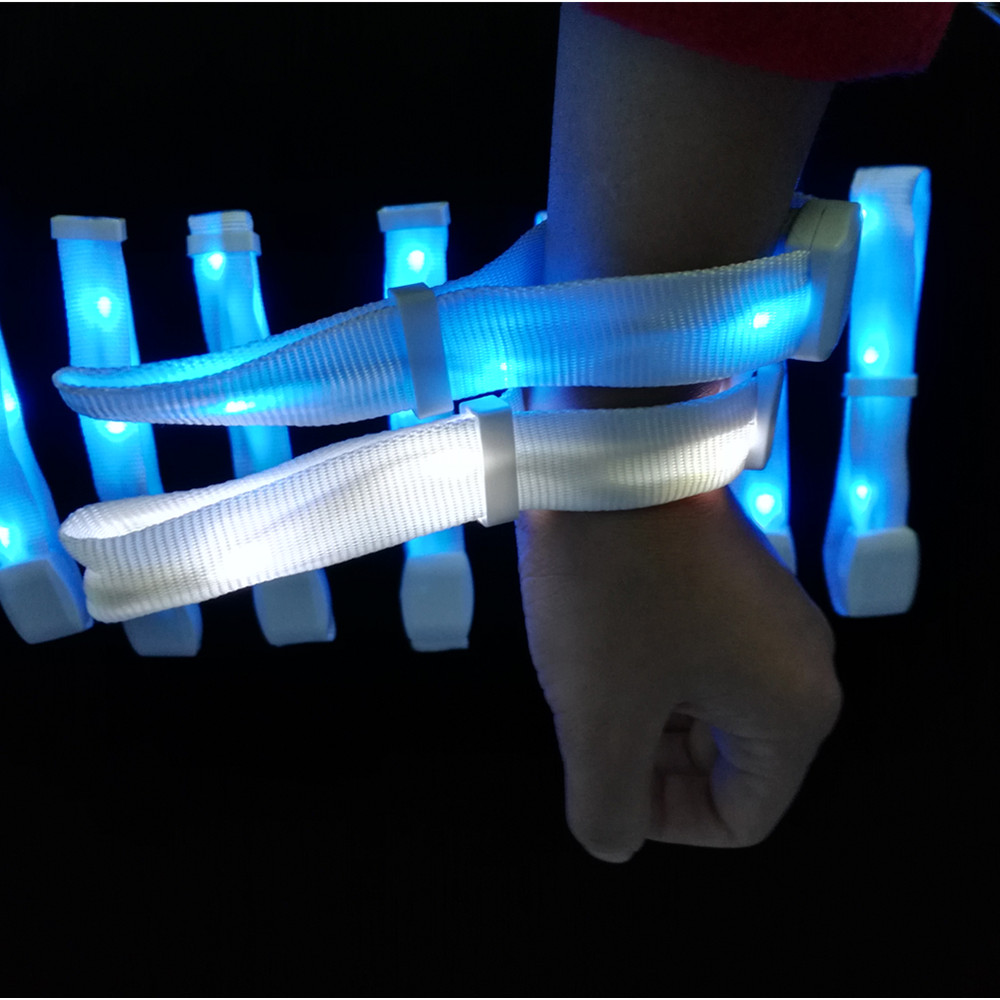 2019 Customized Logo Promotion Lighting Remote Control DMX 512 Led Bracelet Xyloband <strong>Wedding</strong> Favors