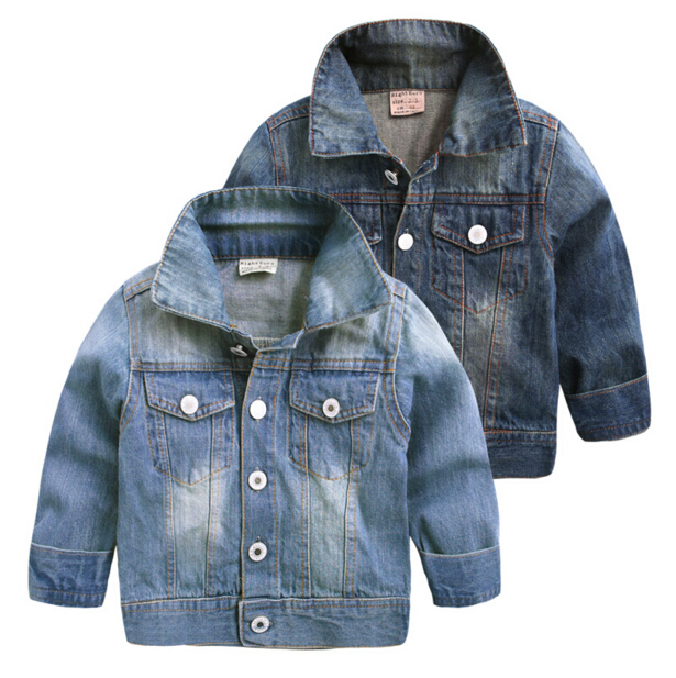 cd3c11429fb Spring Autumn Kids Denim Jacket Boys Handsome Casual .
