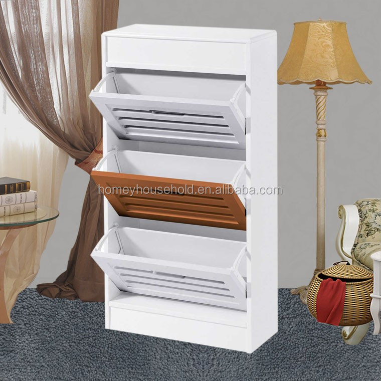 shoe rack furniture design 3 layer shoe cabinet wall mounted stand