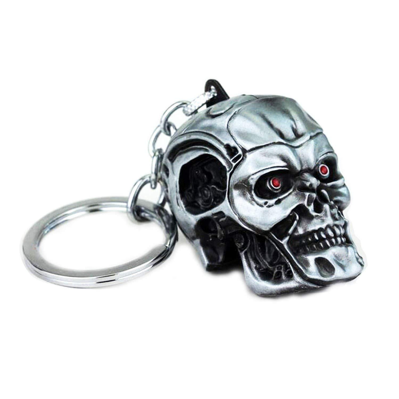 Terminator Skull Skeleton Head Keychain ( Ancient Tin )