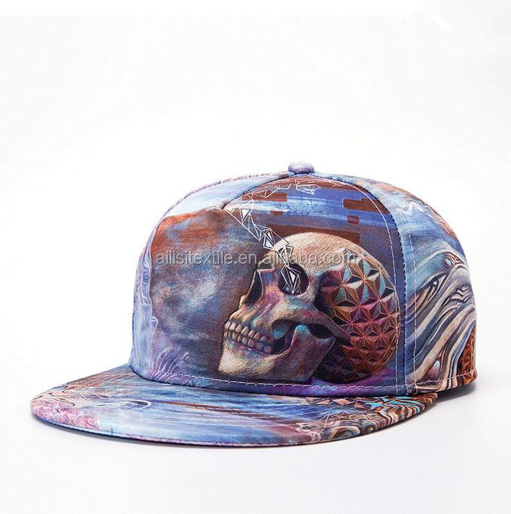 7e0bacbbf7b2d7 Hot Sale Mens 3D Printed Baseball Cap Hats /Digital Printed Hip Hop Snapback  Cap Hat/Custom Print Hip Hop Cap