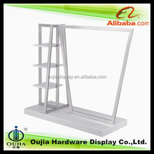 white melamine board display racks and stands, snow white combo merchandising solutions