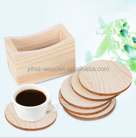 free sample wooden coffee cup mat pine <strong>wood</strong> cup mat pad coster