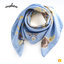 Custom Design Digital Printing 90 x 90 cm Square Silk scarf