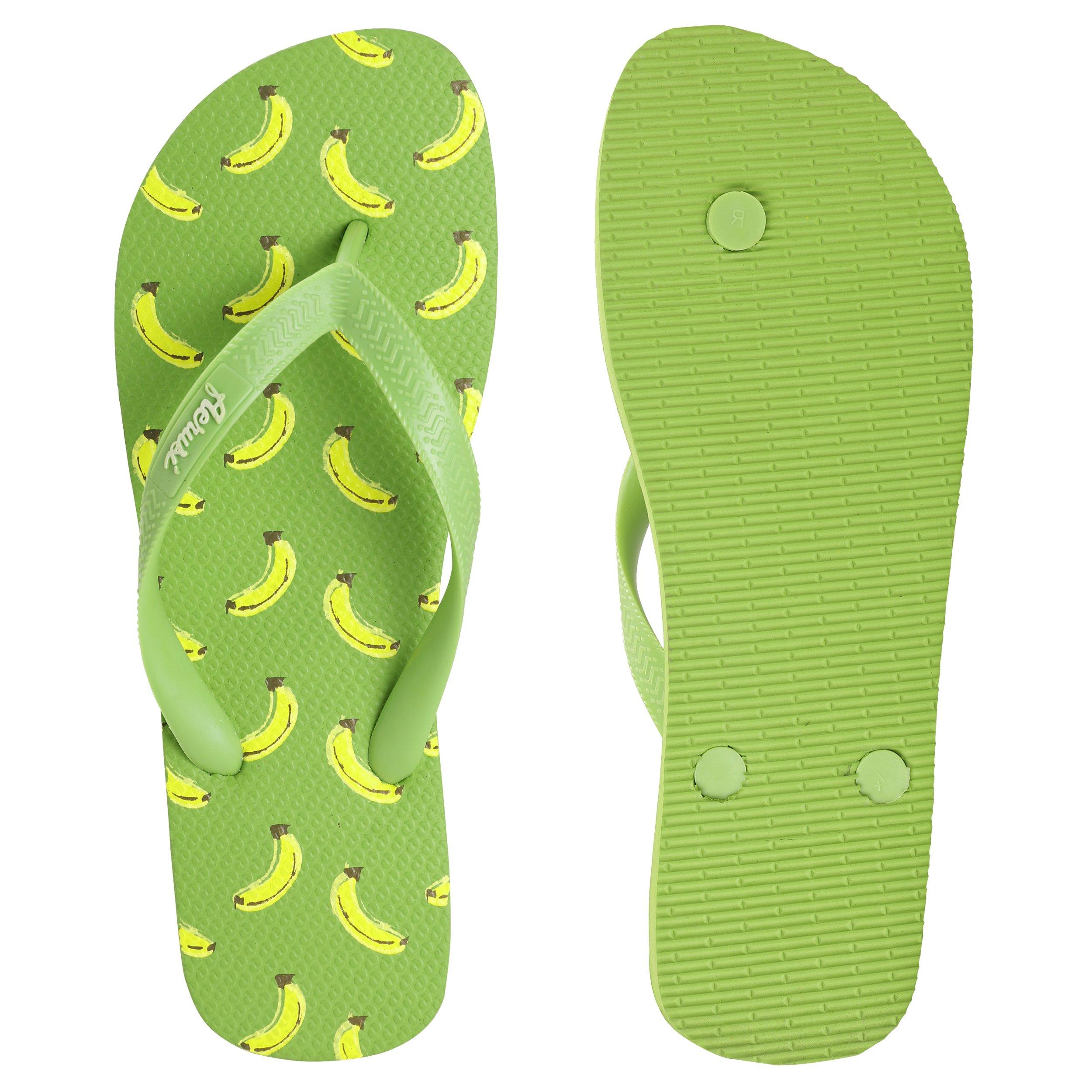 d34b48b4e Aerusi SEG083039 Ocean Corte Series Banana Design Flip Flop Sandal Slippers