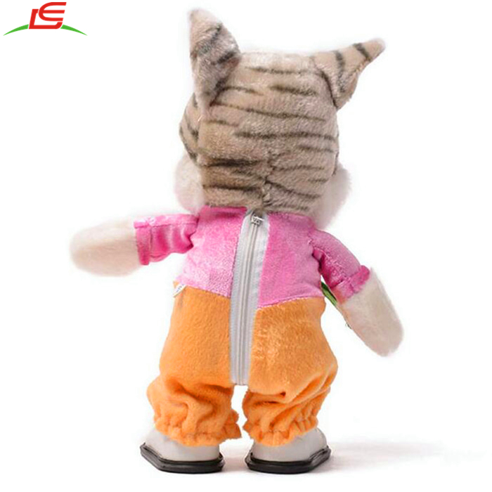 Cute Electric Cat Walk Singing Plush Toys for Children