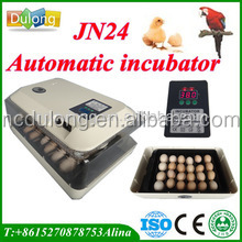 excellent quality! CE certified capacity 24 chicken eggs automatic mini incubator JANOEL24