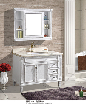 Canada And American Style Antique Bathroom Vanity Unit With Marble Top