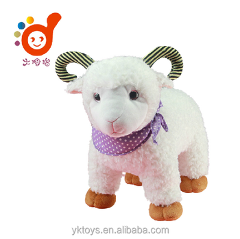 cute sheep plush toy stuffed animal with 3d eyes soft toys small