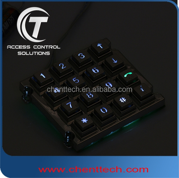 4x4 backliting keypad in access control systems