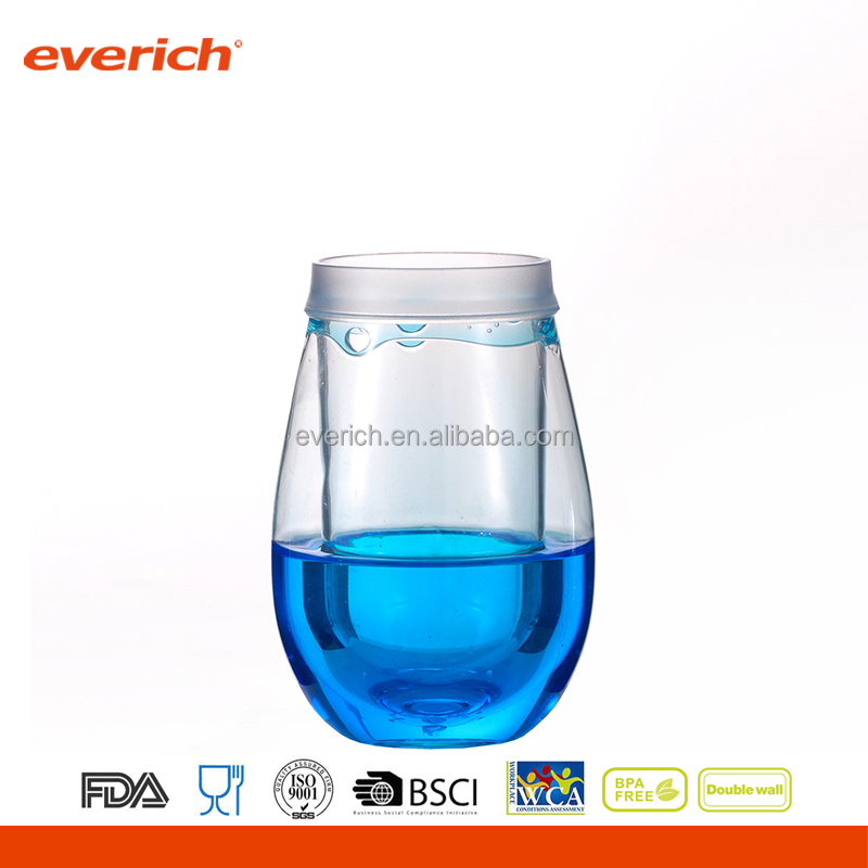 2017 everich plastic wine sippy cup with good quality for gifts