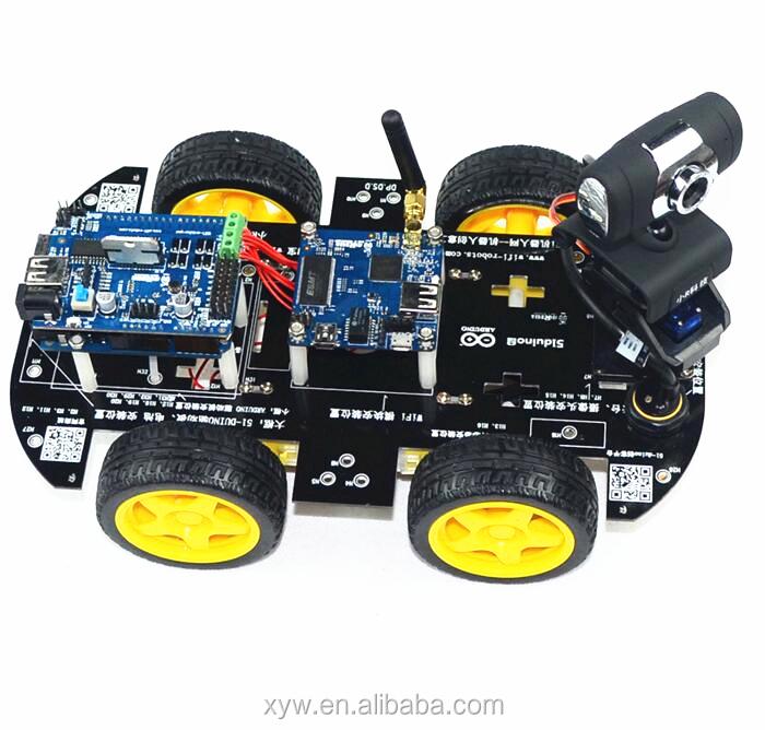 4wd wifi robot de voiture avec hd cam ra num rique wifi smart voiture programmable robot sans. Black Bedroom Furniture Sets. Home Design Ideas