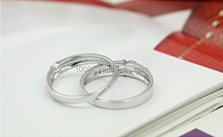 Rhodium plating 925 sterling silver infinity pairs couple ring