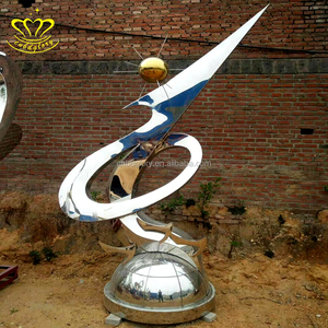Modern abstract metal stainless steel sculpture for outdoor decoration