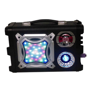 LCD screen 40W wireless bluetooth backpack carbon fiber speaker cone with LED screen display UK-02