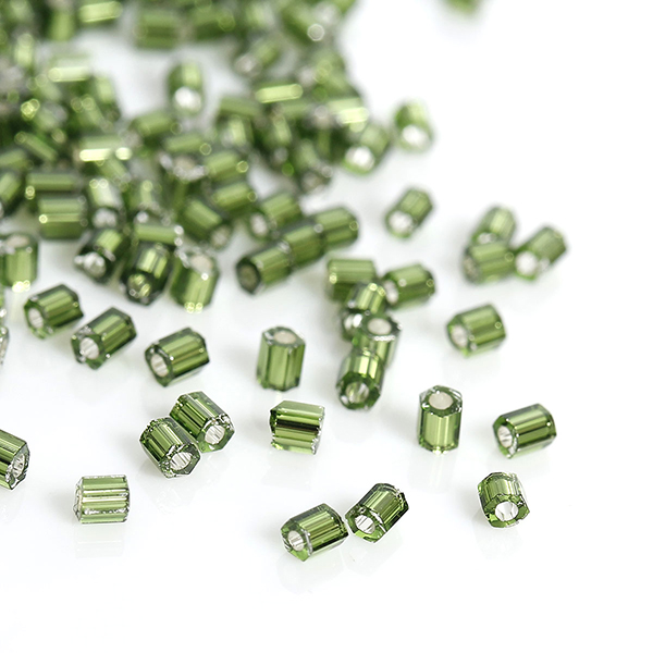 High Quality Hexagon Green Silver Lined Accessories Glass Jewelry Seed Beads Sale