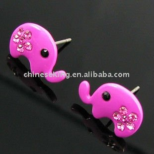 color paint stud earring, animal cartoon earring jewelry