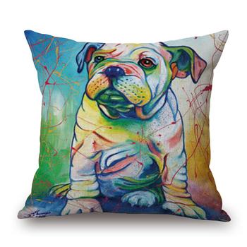 Custom Animal Dog Design Wholesale Plain Cotton Throw Pillow Cover Gorgeous Decorative Pillow Covers Wholesale