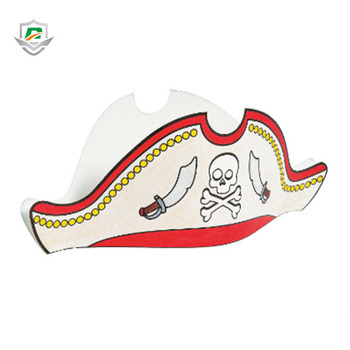 2018 Kindergarten Teaching Classroom Funny Kids Diy Coloring Cap Handmade  Promotional Paper Pirate Party Educational Pirate Hat - Buy Paper Party