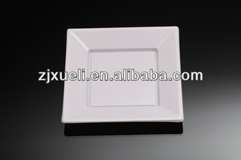 disposable designer plastic plate white square wholesale dinner plates - Square Dinner Plates