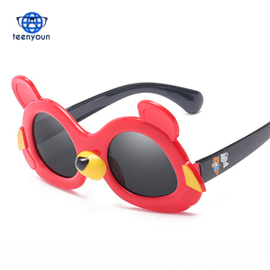 Lovely Cartoon Small Bear Polarized Kids Sunglasses TR90 Fashion Child Sun Glasses 3-10 Years Old Boys Girls Sunglasses