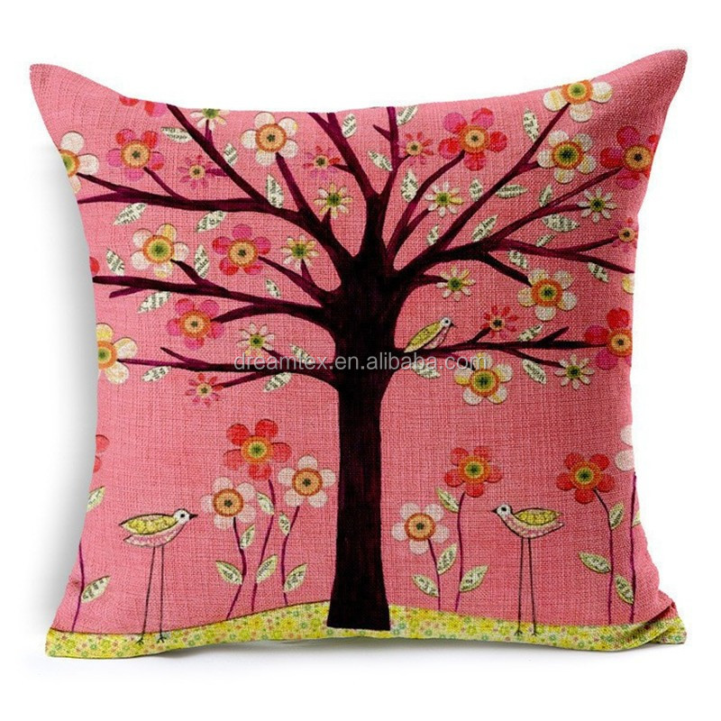 Waterproof cushion cover cotton linen sublimation custom pillow case