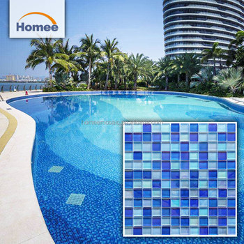 High Quality Mixed Blue Glass Mosaic Swimming Pool Floor Tiles - Buy High  Quality Glass Mosaic Tiles,Swimming Pool Glass Tiles,Pool Floor Tiles ...