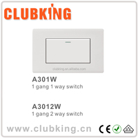 China supplier switch power supply 1 gang 1 way switch wall switch