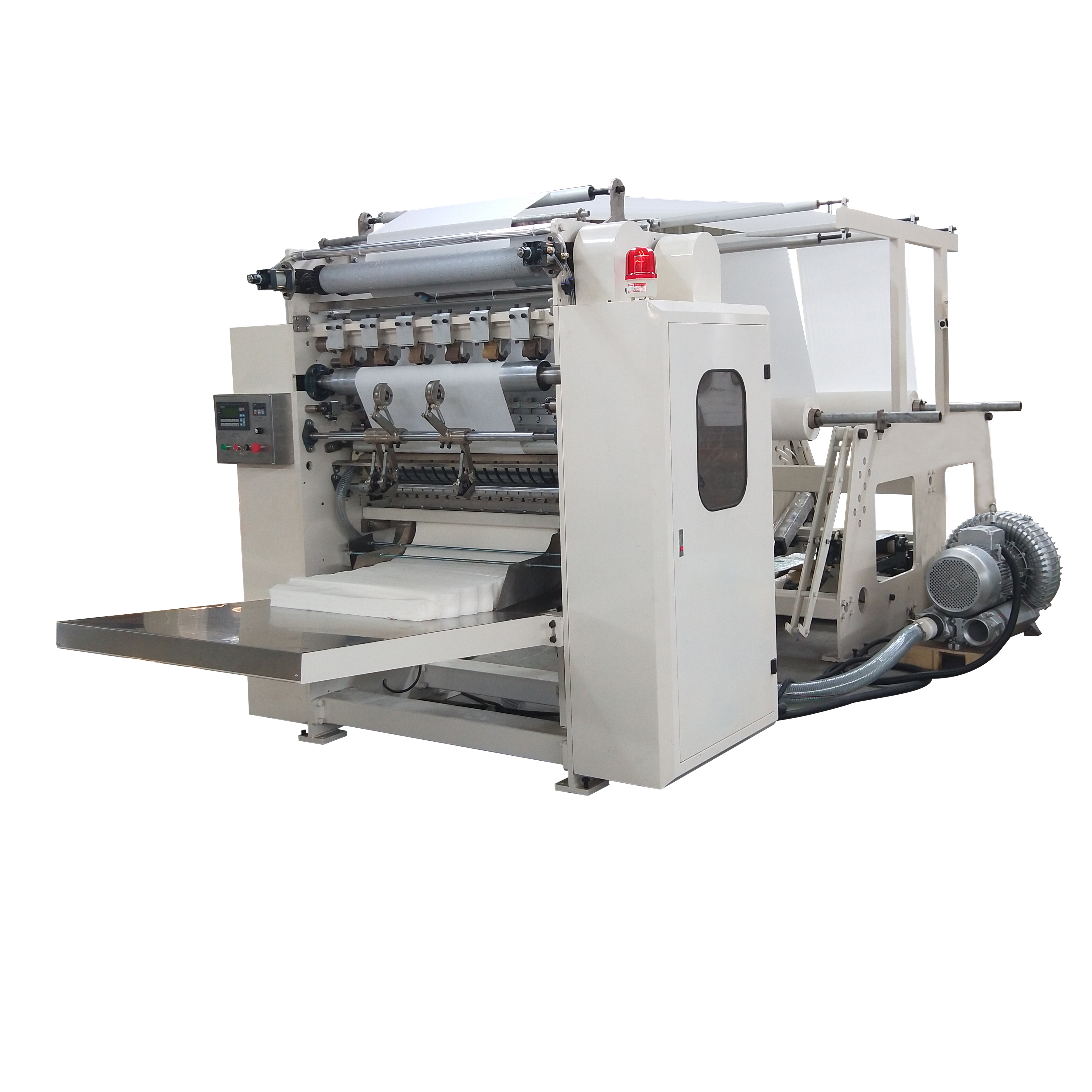 Facial tissue making machine 14