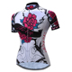White Color Flower Design Wonder Breathable Summer Jersey Cycling Woman