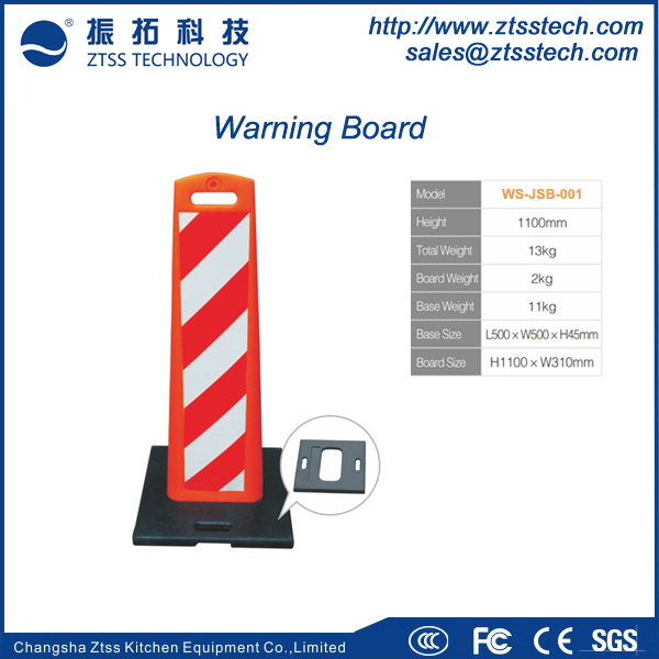 Reflective Plastic Warning Traffic Sign Board for Road Safety