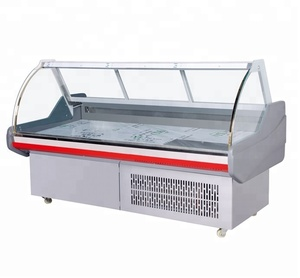 Display counter chiller for meat commercial showcase cold food refrigerator