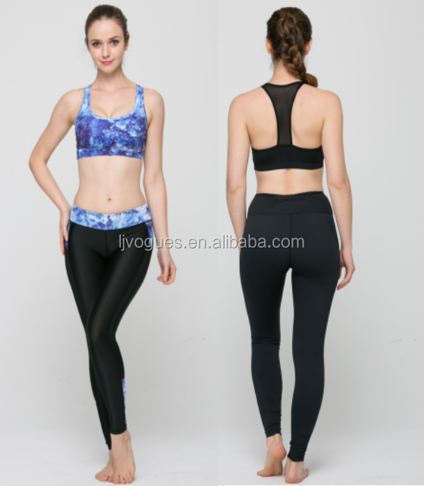 ladies crop top and skirt GL-Fitness Yoga Wear Details 13