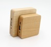 Portable battery charger 7800mah wooden power bank