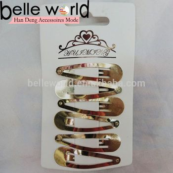 fashion golden sleepie metal colors hair snap clips