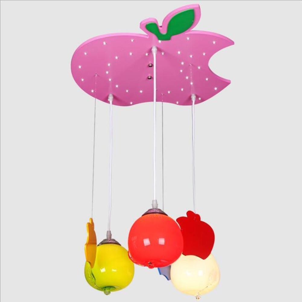 Wei-d New Children's LED Ceiling Lamp Green Study Pendant Light Bedroom School Cartoon Kindergarten Chandeliers , A