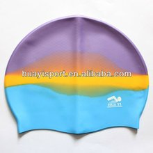 Logo printed waterproof plain silicon dome swim cap