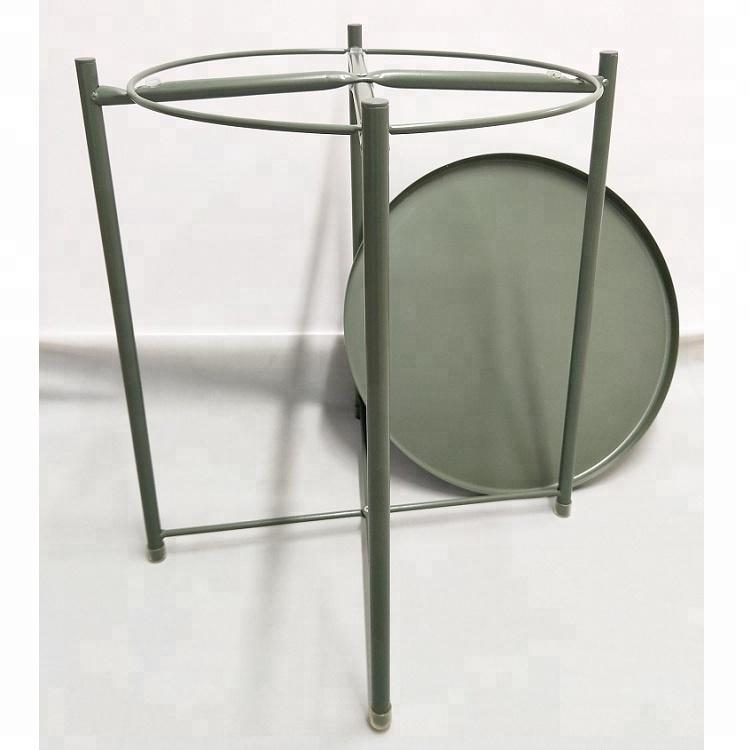 Small iron round Tray table