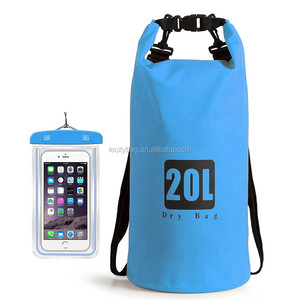 Wholesale Custom logo Swimming, Kayak, Rafting & Boating float Waterproof Dry Bags 2pcs Set Waist Pouch Phone Case