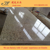 Polished China Rusty Yellow Granite Tiles Floor Covering