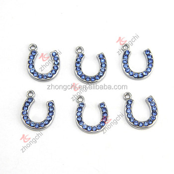 Hot selling blue crystal horseshoe pendant charmswholesale silver hot selling blue crystal horseshoe pendant charms wholesale silver horse shoe charms for fashion accessories mozeypictures Gallery